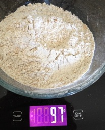 I also measure out 96-97g of whole wheat flour