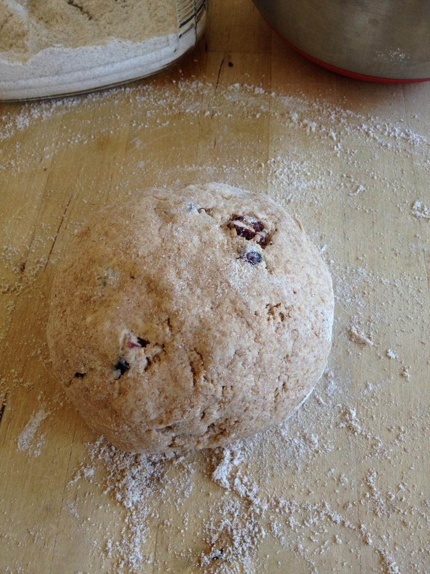 12. Knead the dough six to eight times with a light touch, then shape quickly into a ball Knead the dough six to eight times with a light touch, then shape quickly into a ball