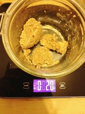 Two ounces of stiff levain (starter)