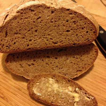 100 percent whole wheat and rye loaf
