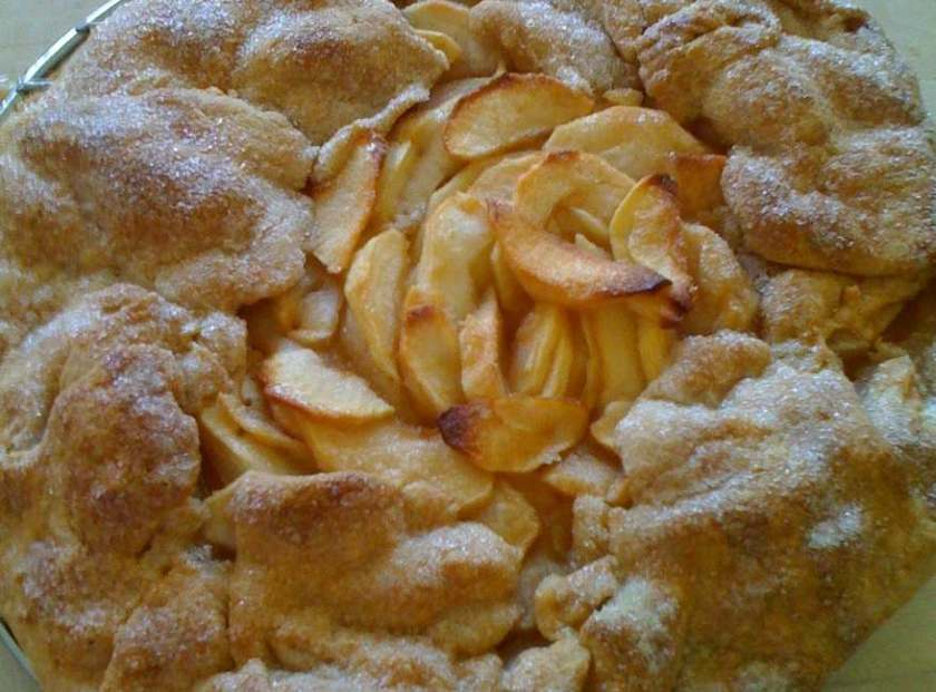 Rustic apple galette in whole wheat crust