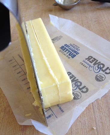 Cubing butter for the pie crust