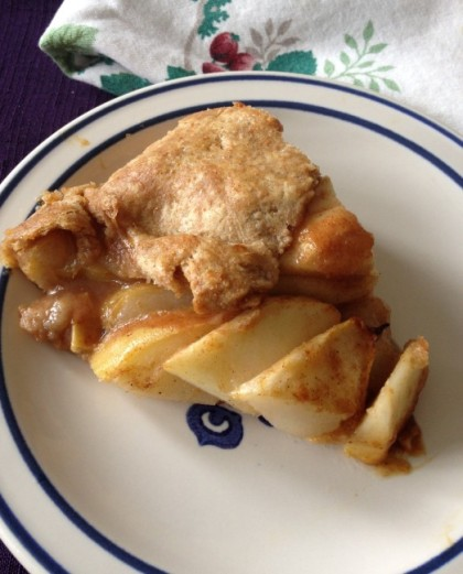 Apple galette in whole wheat pastry shell