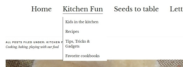 A sampling of what I plan to add under the Kitchen Fun tab