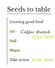 The Seeds to Table tab schema 5/31/2015