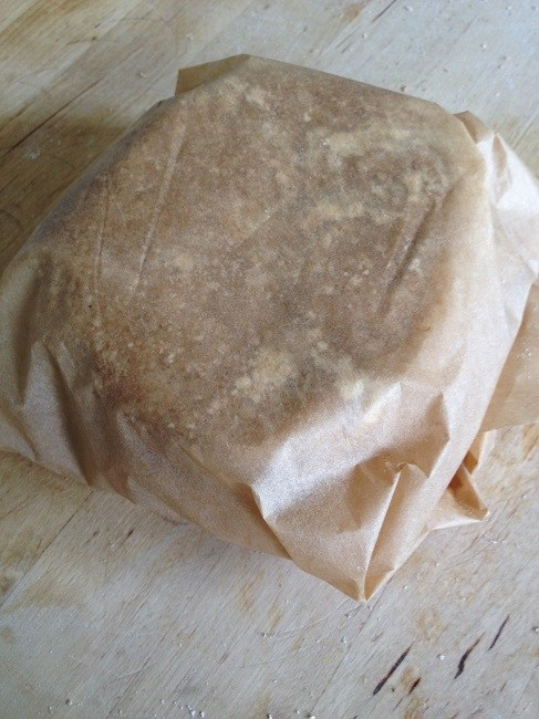 Wrap the dough in the parchment and chill thirty minutes