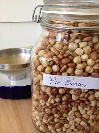Store your pie beans in a moisture-proof container