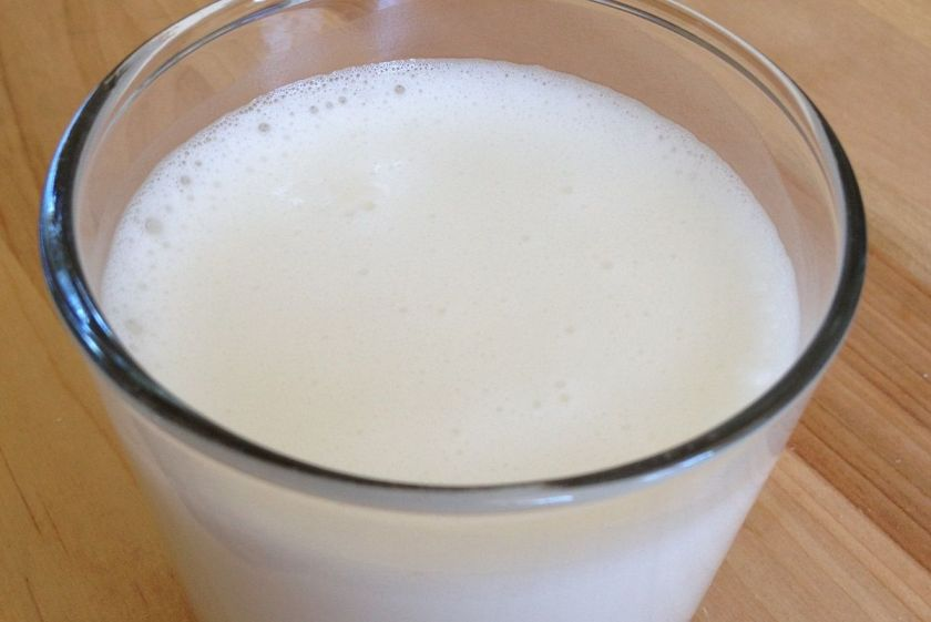 Fresh-made coconut milk