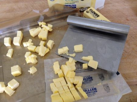 Cube the butter and soften to room temperature