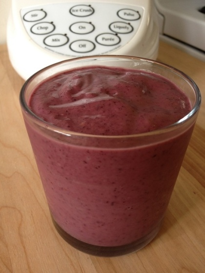 I used a cup and a half of the fresh coconut milk to make this berry smoothie