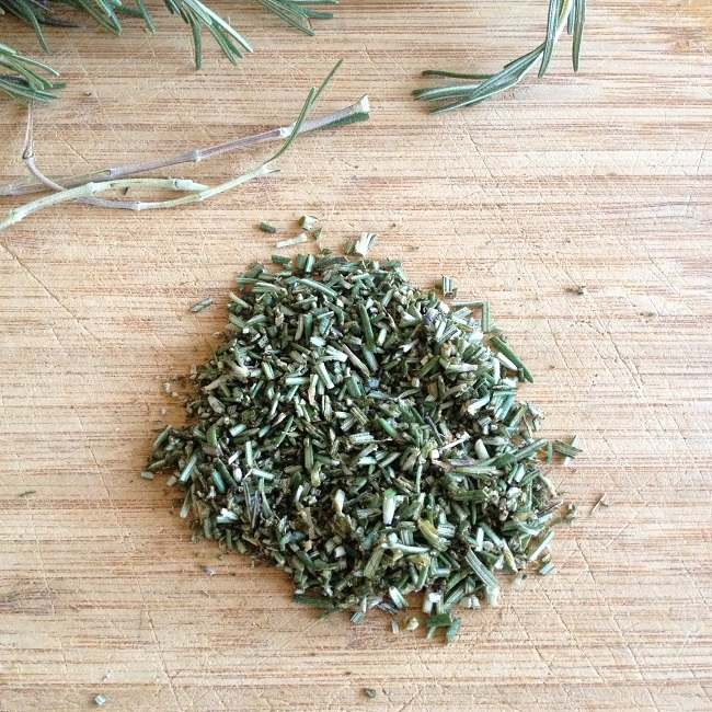 Finely chopped rosemary leaves