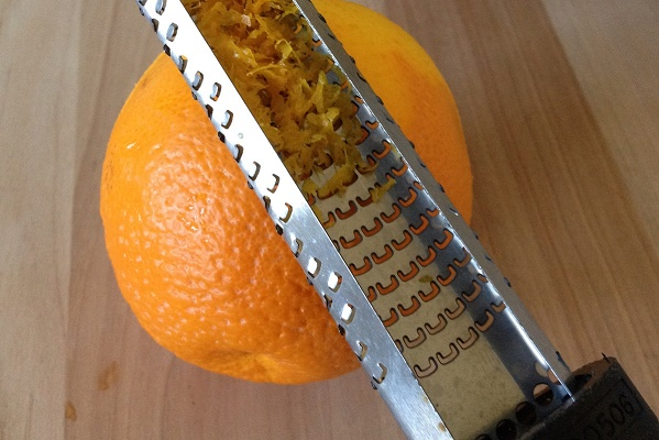 Zesting an orange