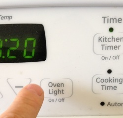 Turn on your oven light