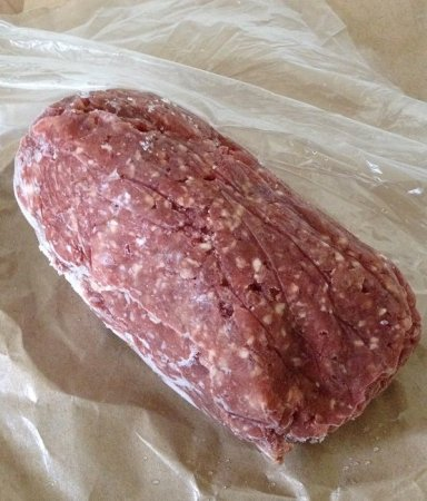 Many a meal, back in the day, began with a pound of frozen ground beef like this one