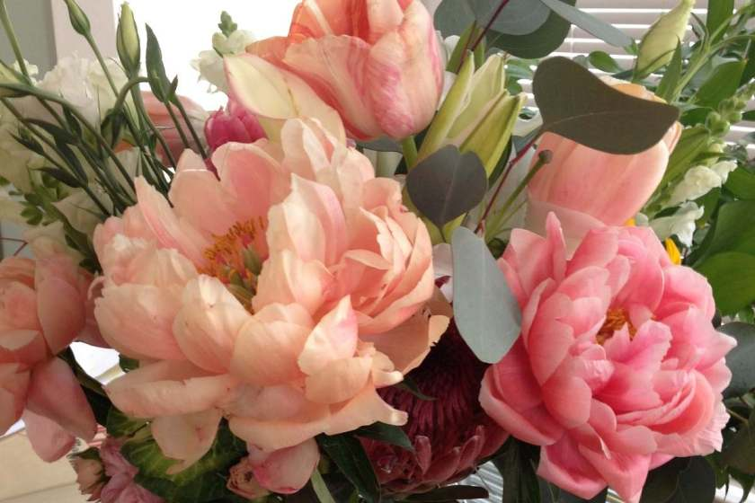 Organic floral bouquet from Farm Girl Flowers in San Francisco