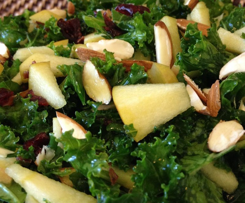 We made the apple kale salad for lunch one day. Delish!